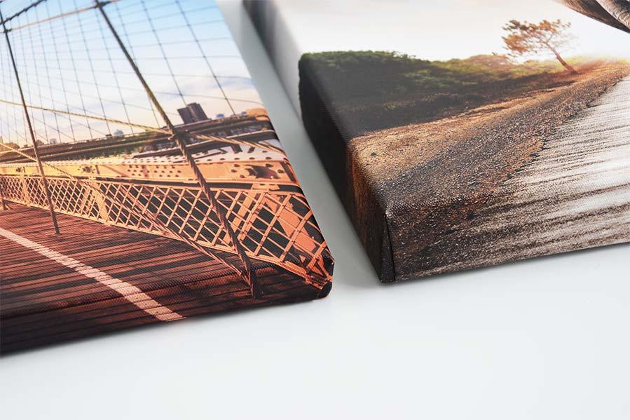 Foto op canvas 2 en 4cm