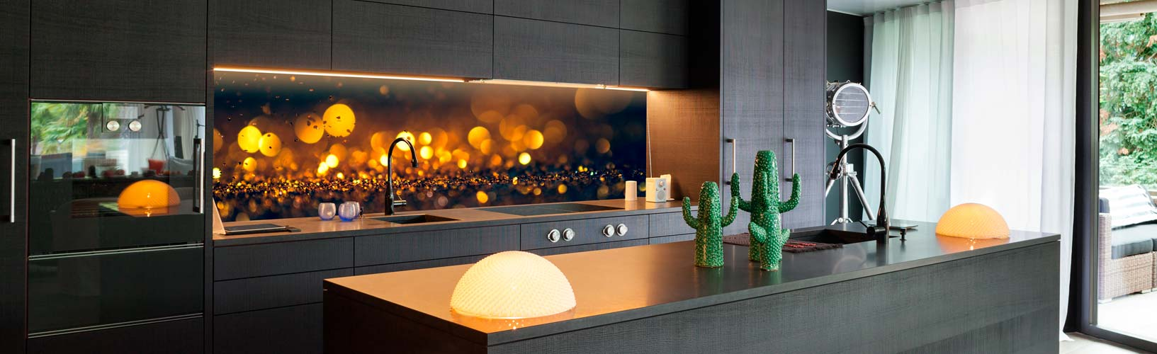 Küchenrückwand glas motiv