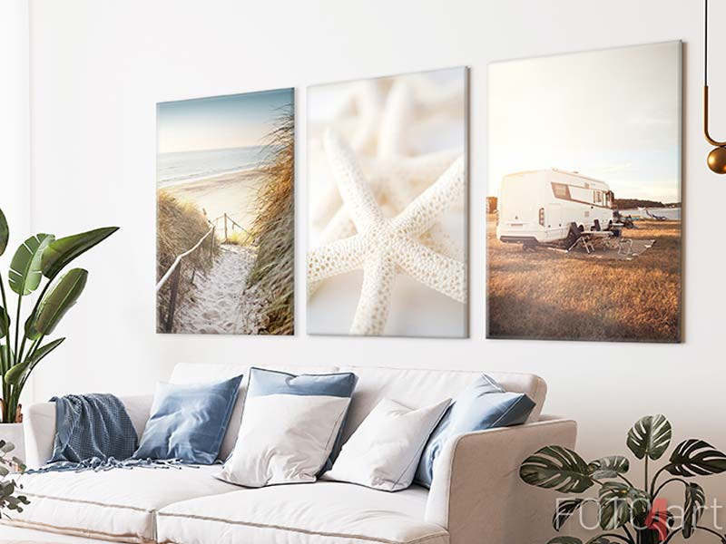 Foto op Canvas - Close-Up Of White