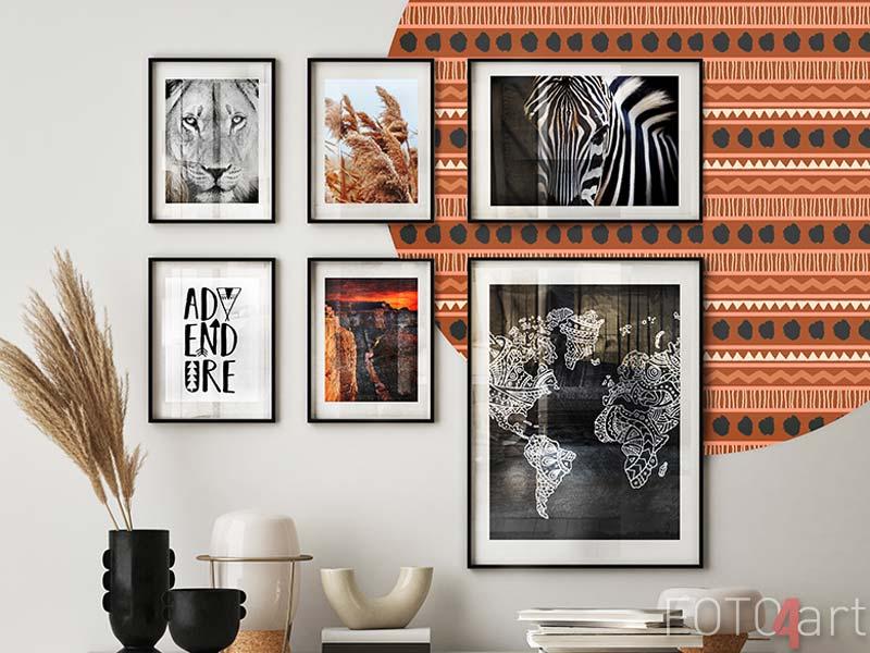 Ingelijste posters Leeuw portret