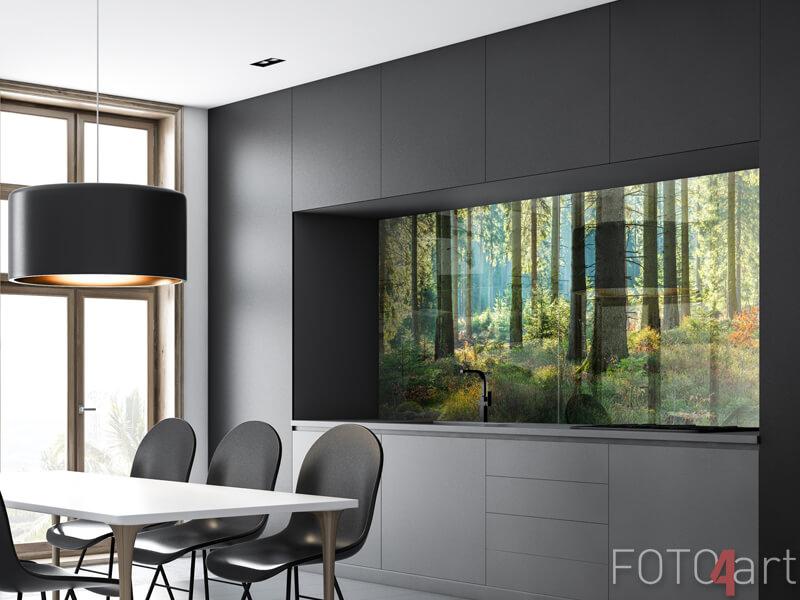 Glazen achterwanden - Zonnig bos