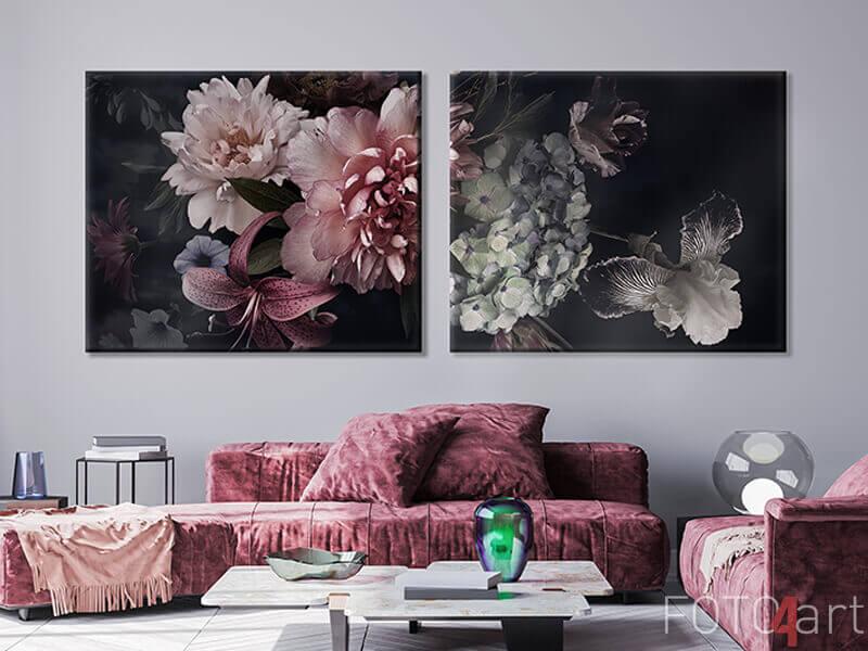 Foto op Canvas - Florale achtergrond