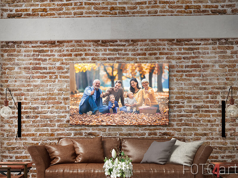 foto canvas van de kleinkinderen