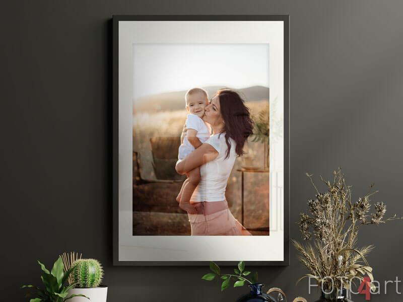Jouw foto op ingelijste poster