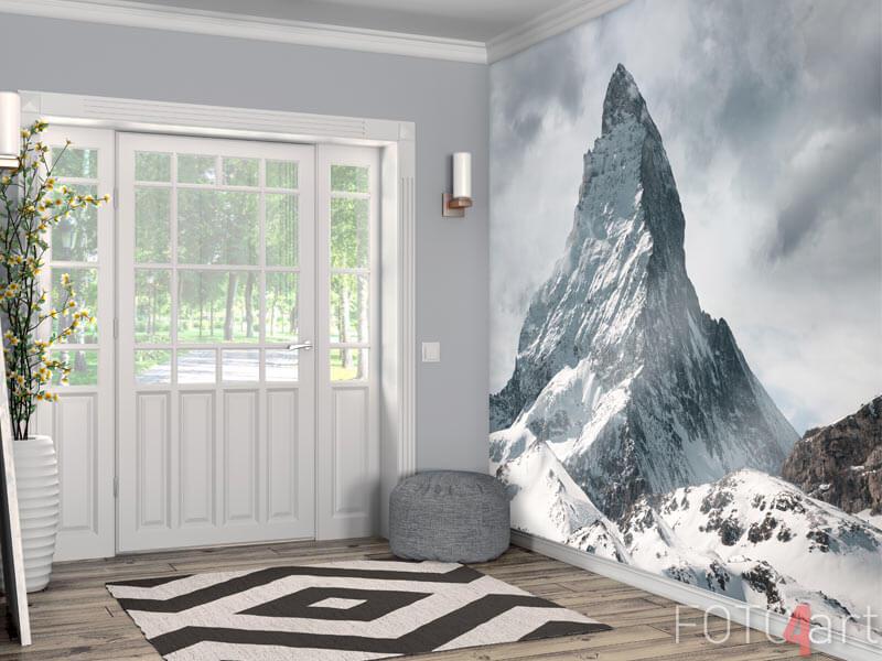 Fotobehang - panoramisch uitzicht op de bergen