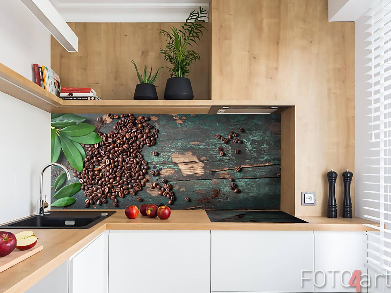 Plexiglazen Achterwand Koffiebonen