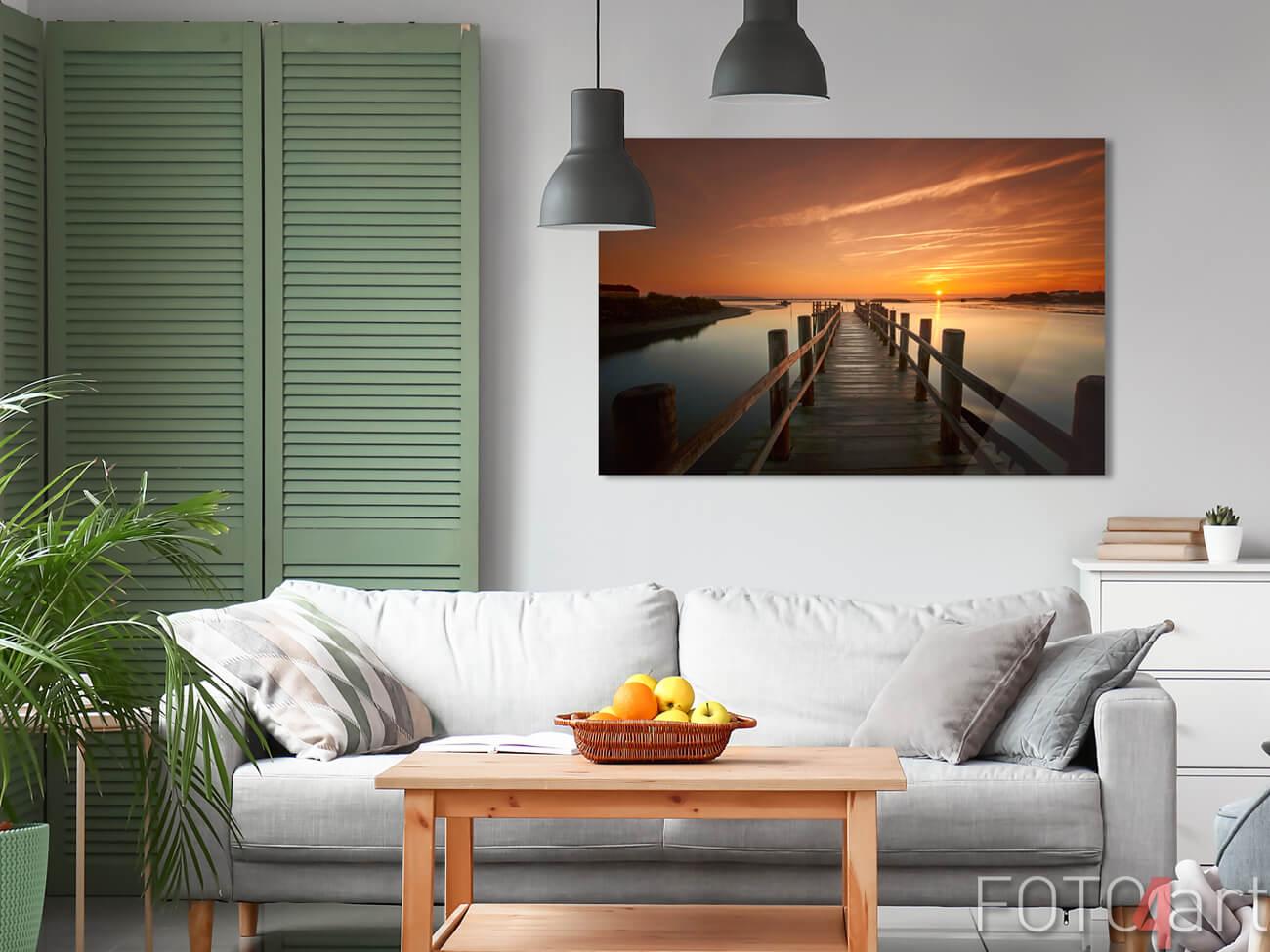 Foto auf Plexiglas Seebrücke