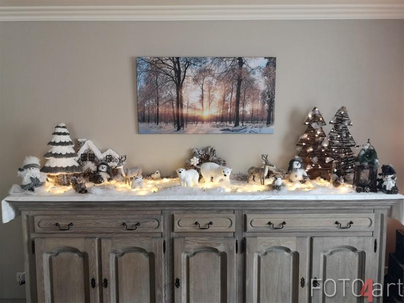Foto op Canvas Winter Bos