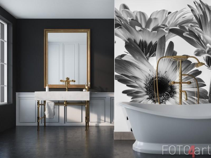 Badkamer Achterwand met Foto Gerbera