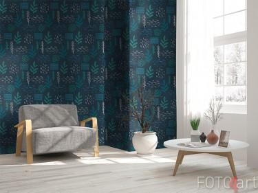 Scandinavisch behang met bloemen