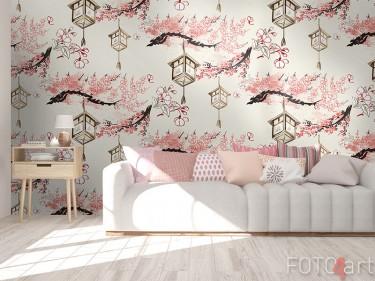 Behang Japanse lampions