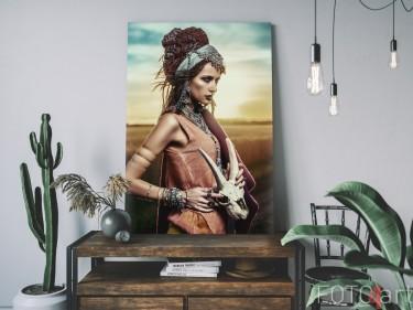 Canvas met Foto van Gypsy in de Woestijn