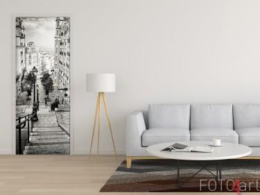 Mooie Deursticker met Foto Mooie Deursticker met Foto Straten van Parijs