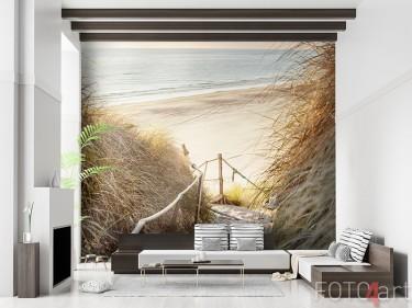 Fotobehang strand