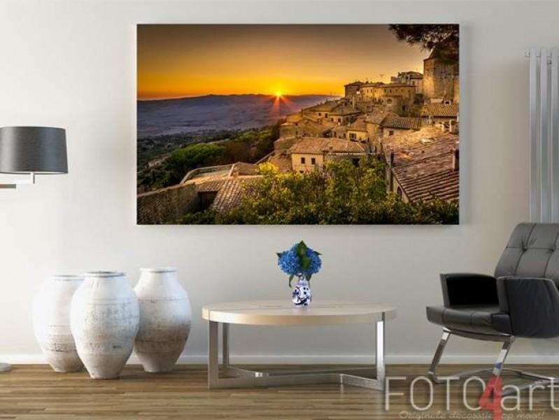 Foto op Aluminium Volterra Zonsondergang