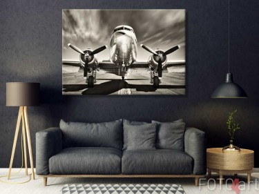 Foto op Canvas Vliegtuig