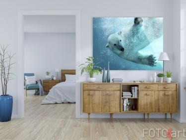 Foto op Plexiglas Ijsbeer Onderwater