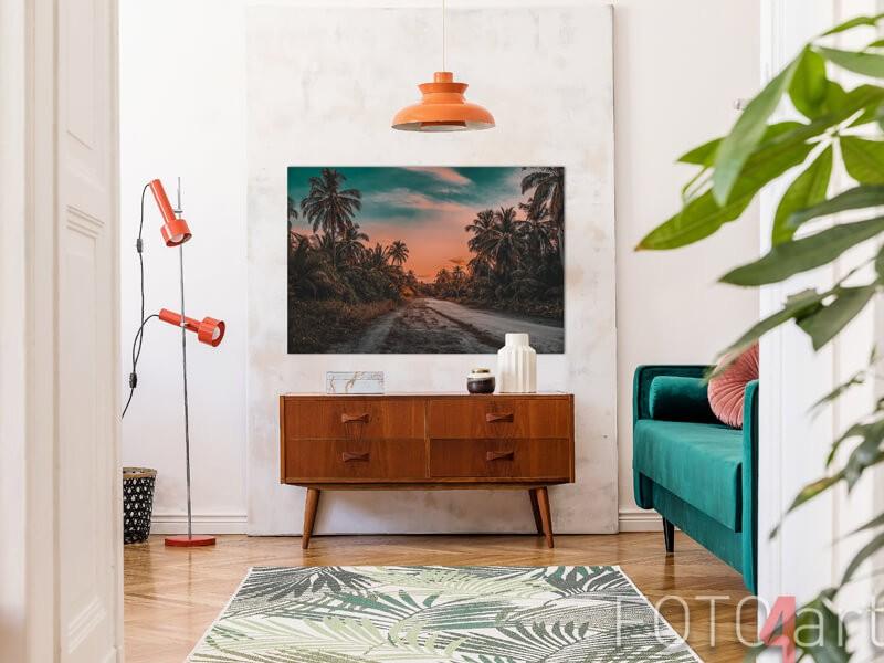 Poster met palmbomen