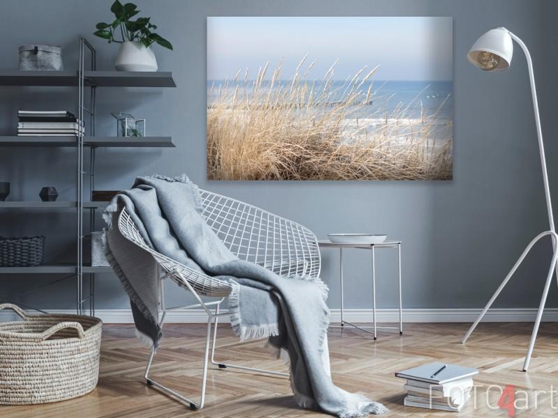 Foto van Pier op Canvas