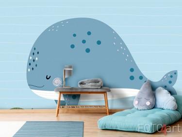 Fotobehang met walvis