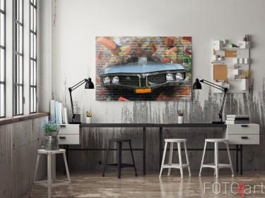 Hobbykamer met Foto Graffiti op Aluminium