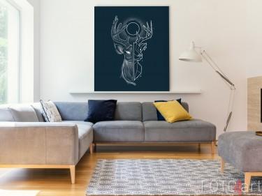 Illustratie op Aluminium Geometrisch Hert