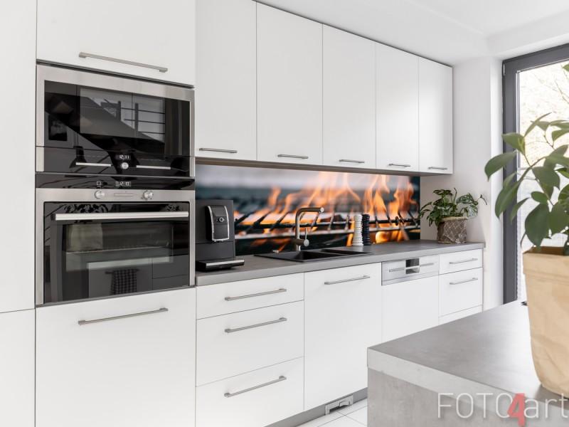 Keuken Foto Achterwand Brandhout