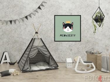 Kinderkamer met Illustratie op Poster