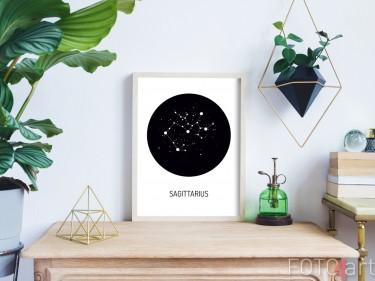 Modern Geometrisch Interieur met Zodiac Poster