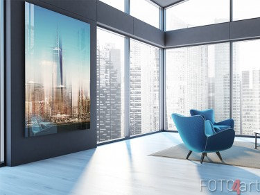 New York skyline op plexiglas