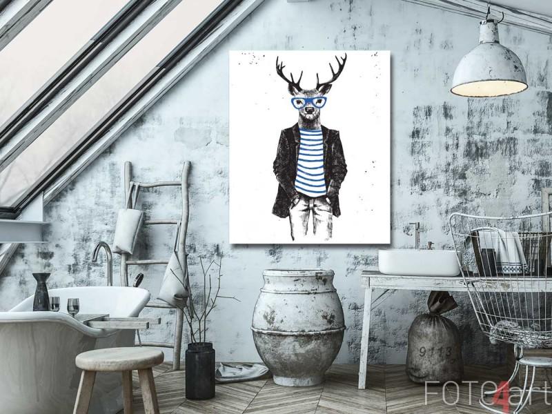 Plexiglas schilderij Handgetekende dieren hipsters