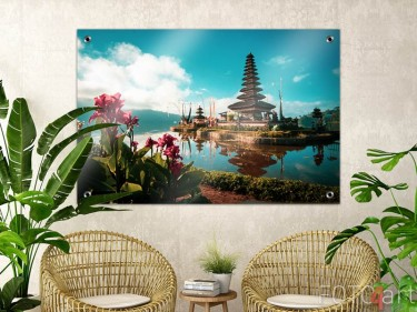Tuinposter met Hindoe tempel
