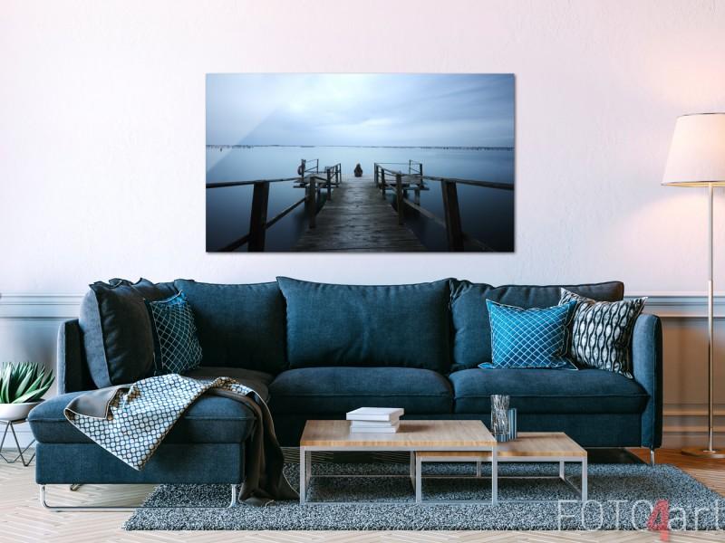 Woonkamer met Foto op Plexiglas Pier