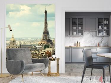 Zithoek met Muursticker Parijs